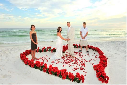 Beach Wedding Herz 2