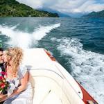 Braut im Boot