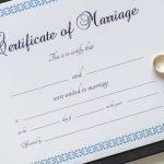 Certificate of Wedding klein