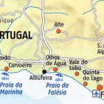 Karte Algarve neu