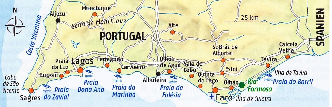 Karte Algarve Neu Dream Weddings International