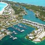 Treasure Cay Luftbild Hafen groß