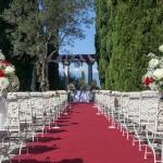 Villa Cortine Hochzeit Garten