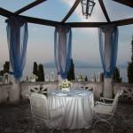 Villa Cortine Marmor-Baldachin