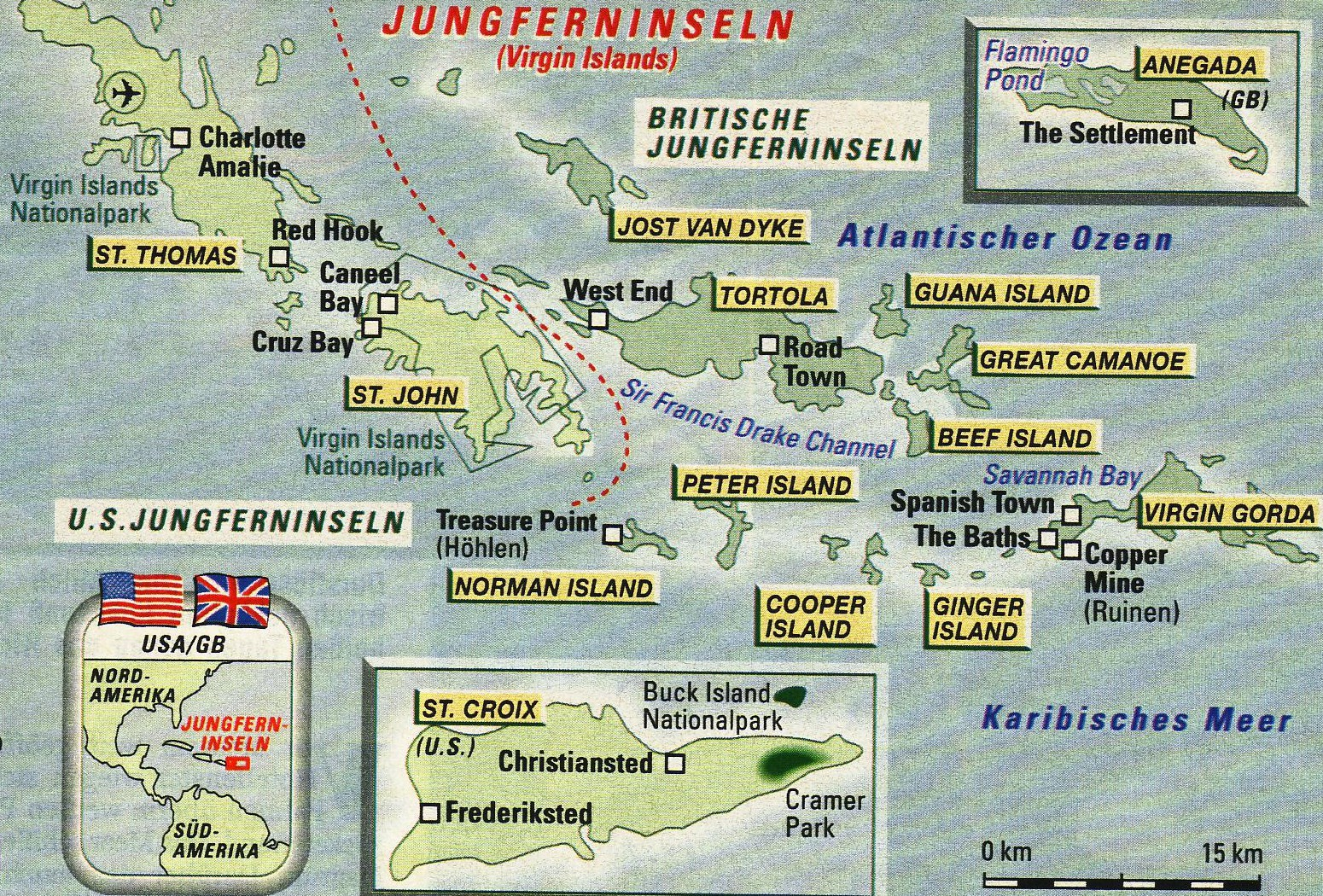 Virgin Islands Karte